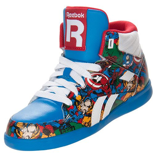 dd6e8e061a3 Reebok Marvel Multi Superhero shoes http   www.finishline.com Marvel Shoes