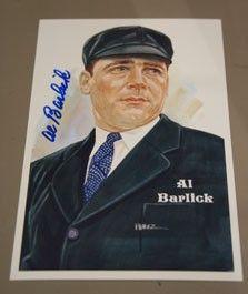 Al Barlick Autographed Perez-Steele Art Postcard | Sports Memorabilia ...