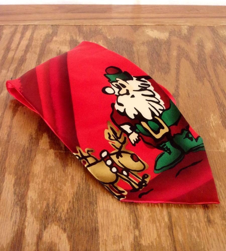 euc J. Jerry Garcia Grateful Dead 100% Silk Merry Christmas Tie ...