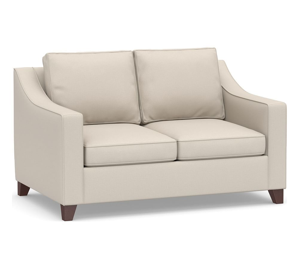 Cameron Slope Arm Deep Seat Upholstered Sofa Upholstered Sofa Love Seat Sofa
