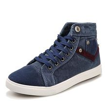Men Shoes 2015 New Arrival Men's Fashion Solid Denim Cloth Shoes Male Autumn Spring Breathable Canvas Shoes XMF345(China (Mainland))