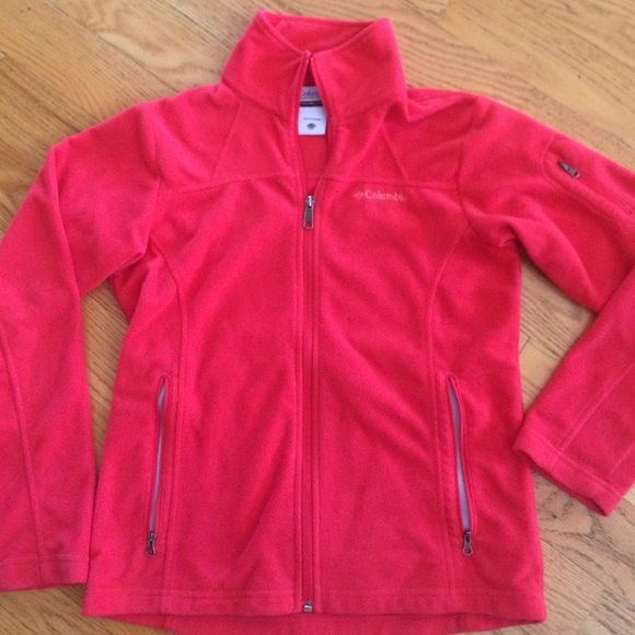 ‼️ REDUCED PRICE‼️Columbia zip up fleece Columbia fleece zip up. Beautiful coral color. Size is youth 14/16 but fits like adult XS/S. Excellent condition. Hardly worn. Zipper pockets in front and on left arm! Very cute! Columbia Jackets & Coats