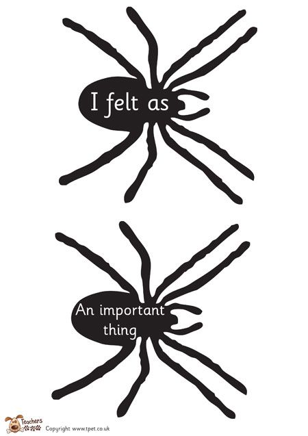 Teacher's Pet Displays » Sentence starter spiders » FREE