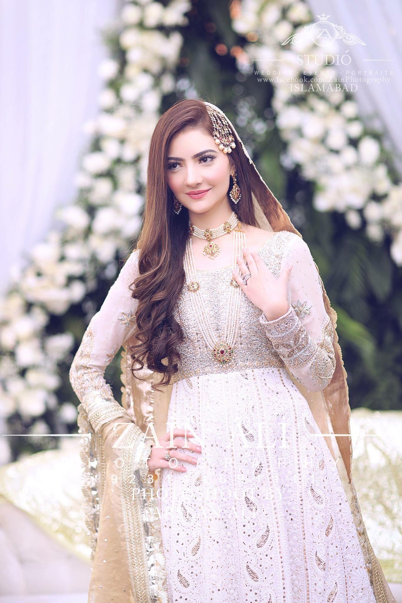 738e8575e0 Nikkah bride | Jewelry in 2019 | Wedding dresses, Pakistani bride ...