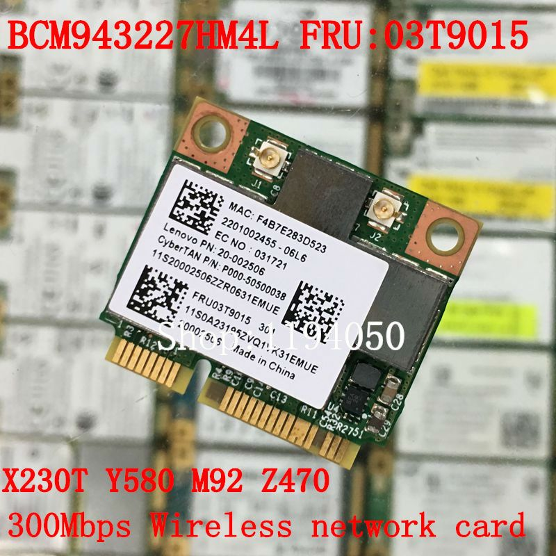 New Broadcom BCM943227 BCM943227HM4L 802 11b/g/n 300Mbps Wireless