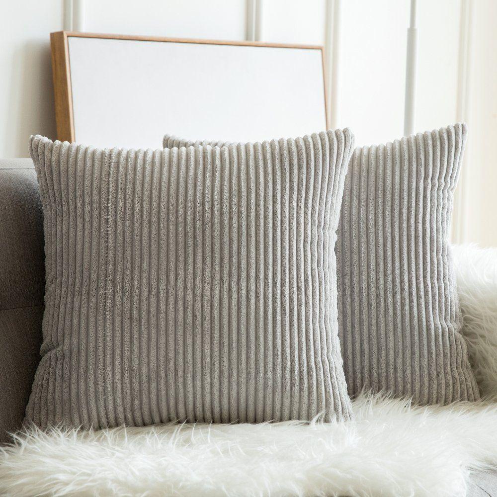 Amazon Com Miulee Pack Of 2 Corduroy Soft Soild Decorative