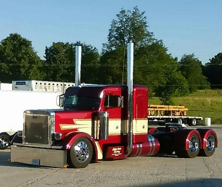 Custom Semi Truck With Images Semi Trucks Trucks Peterbilt