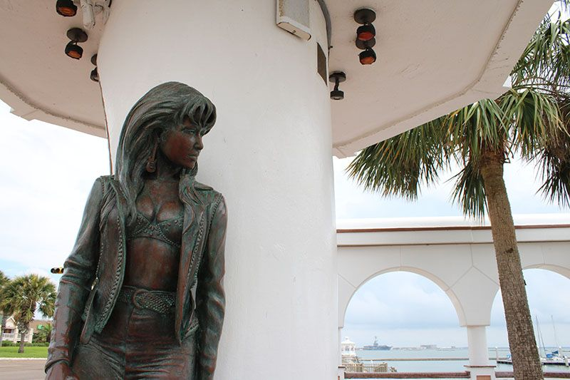 Selena Memorial Statue In Corpus Christi Downtown Corpus Christi