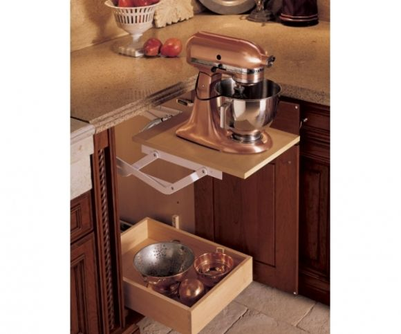 Under Counter Storage For Stand Mixer   No Lifting/moving Required!