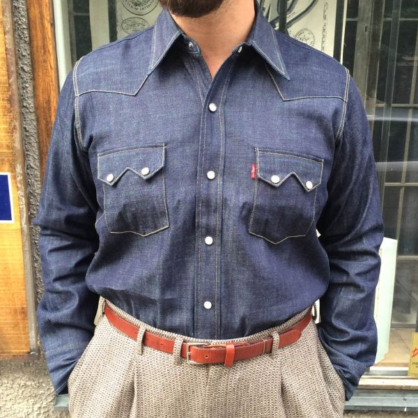 1955 sawtooth denim shirt