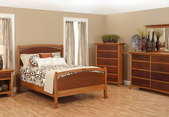 The Oasis bedroom furniture from Millcraft Each piece of furniture