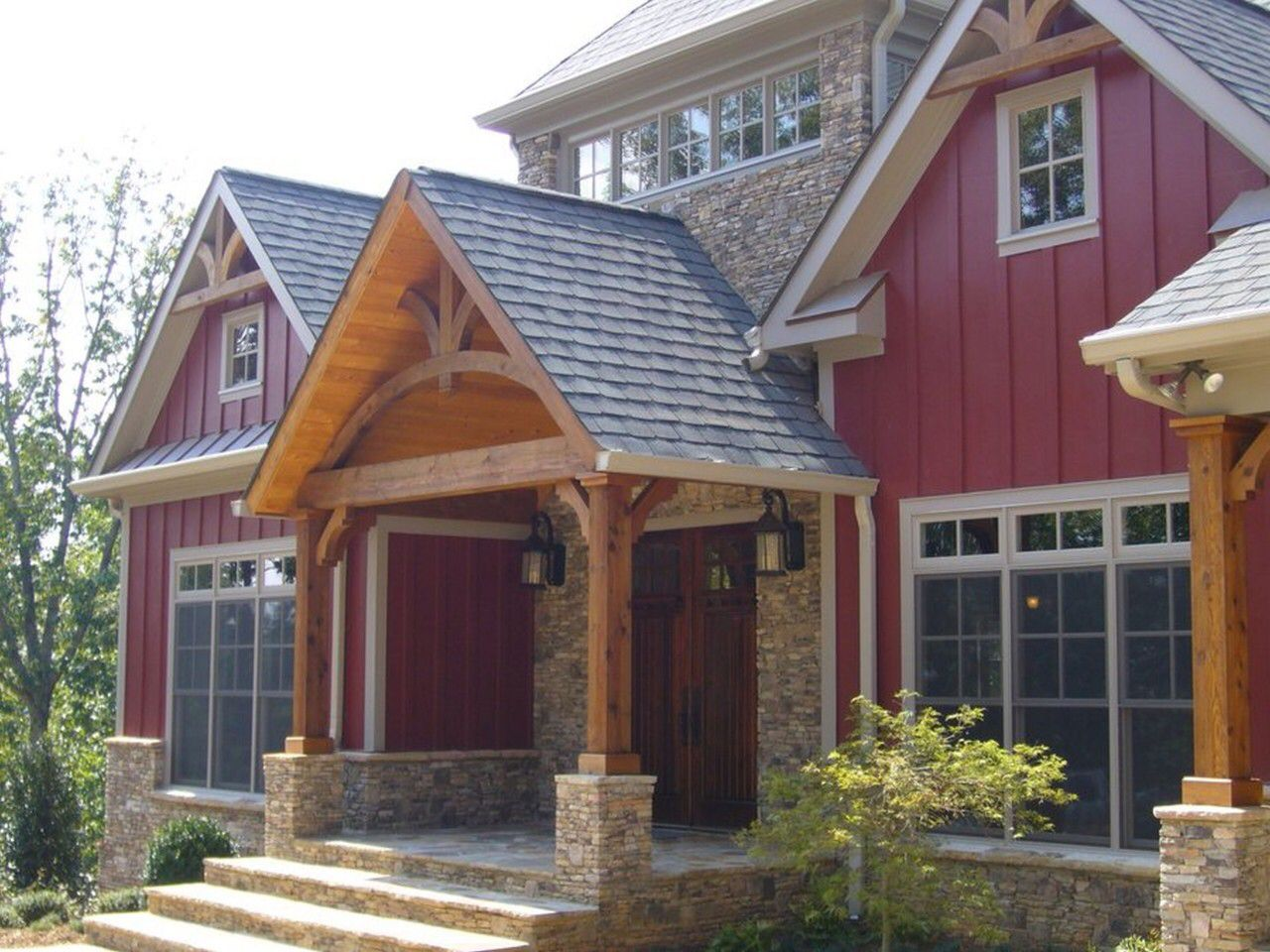 shingle and metal roof combo rustic houses exterior on modern house designs siding that look amazing id=53898