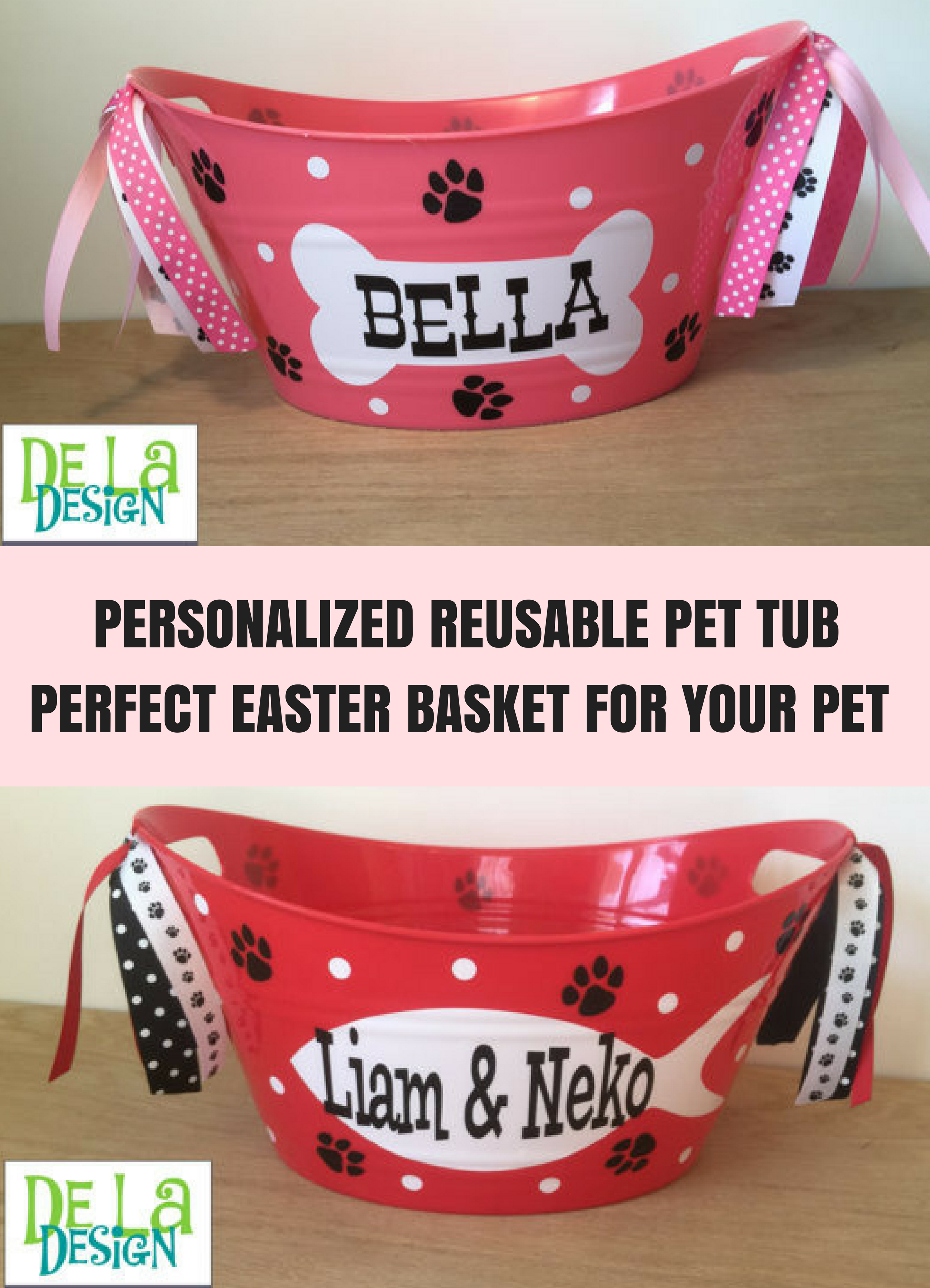 Personalized oval tub pet toys dog cat easter gift basket personalized oval tub pet toys dog cat easter gift basket negle Image collections