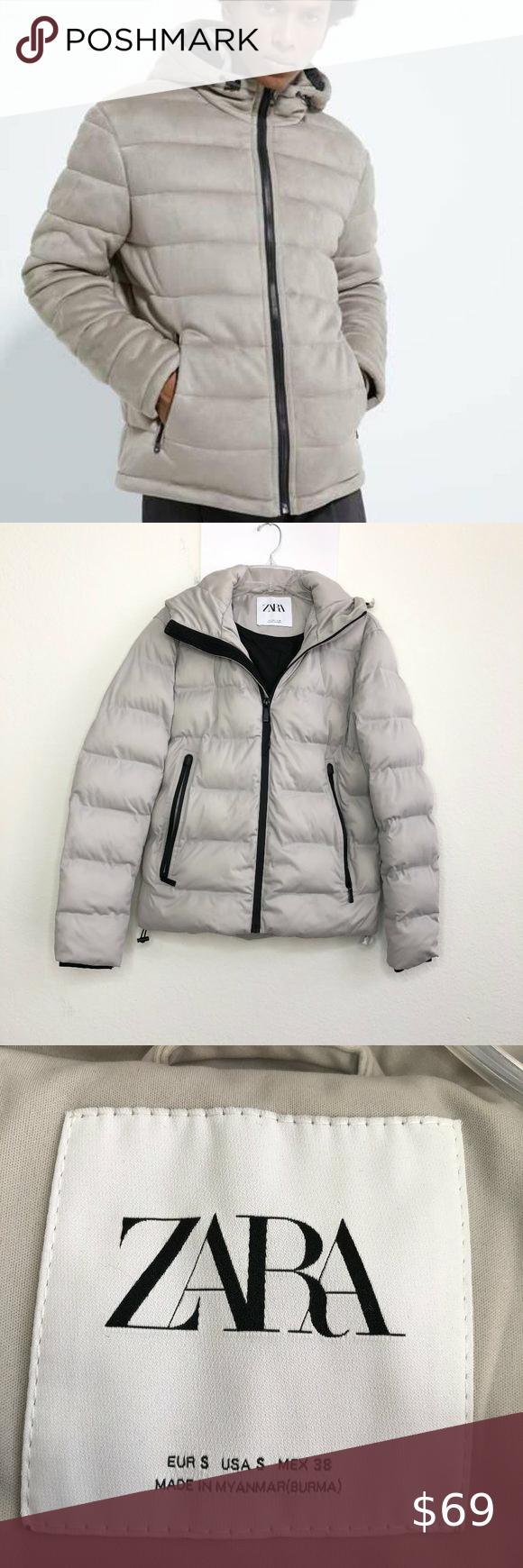 Zara Man Men S Hooded Puffer Jacket Size Hk Zara Man Mens Hooded Zara [ 1740 x 580 Pixel ]