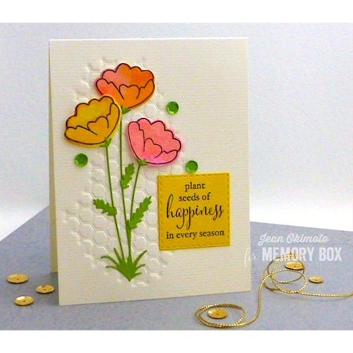 Memory Box Clear Stamps BUMBLEBEE DAYDREAMS Open Studio CL5179 Preview Image