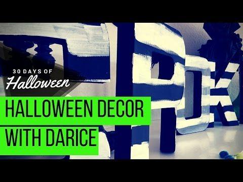 halloween crafts daricehoa craftyhoa youtube - Youtube Halloween Crafts