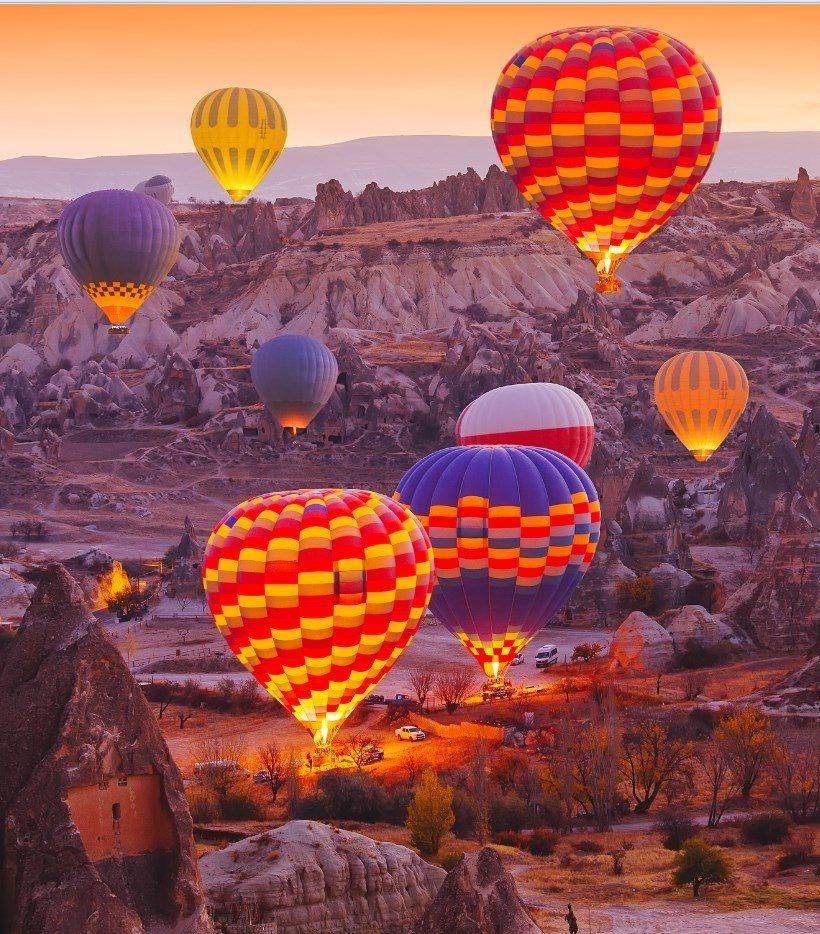 Cappadocia, Turkey. Hot air balloon rides, Cappadocia