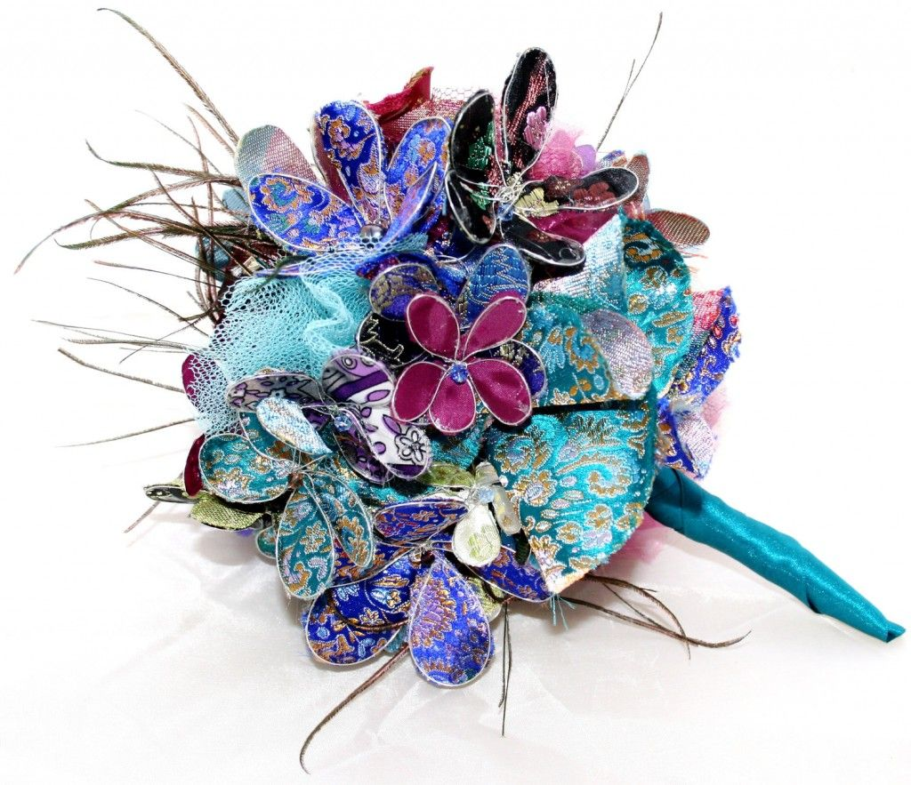 alternative wedding bouquet non traditional wedding ideas peacock alternative 1272