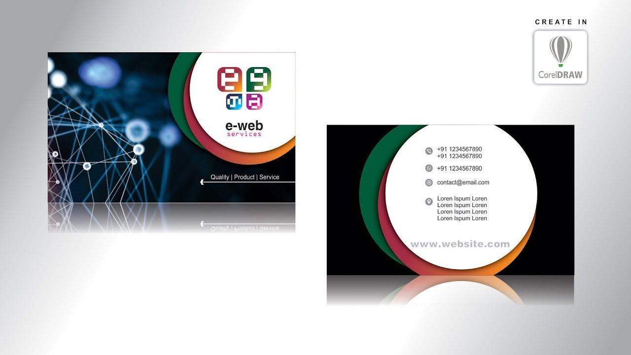 Visiting Card Design In Corel X7 Corel Draw X7 Tutorial Business Car Visiting Card Design Card Design Business Card Design