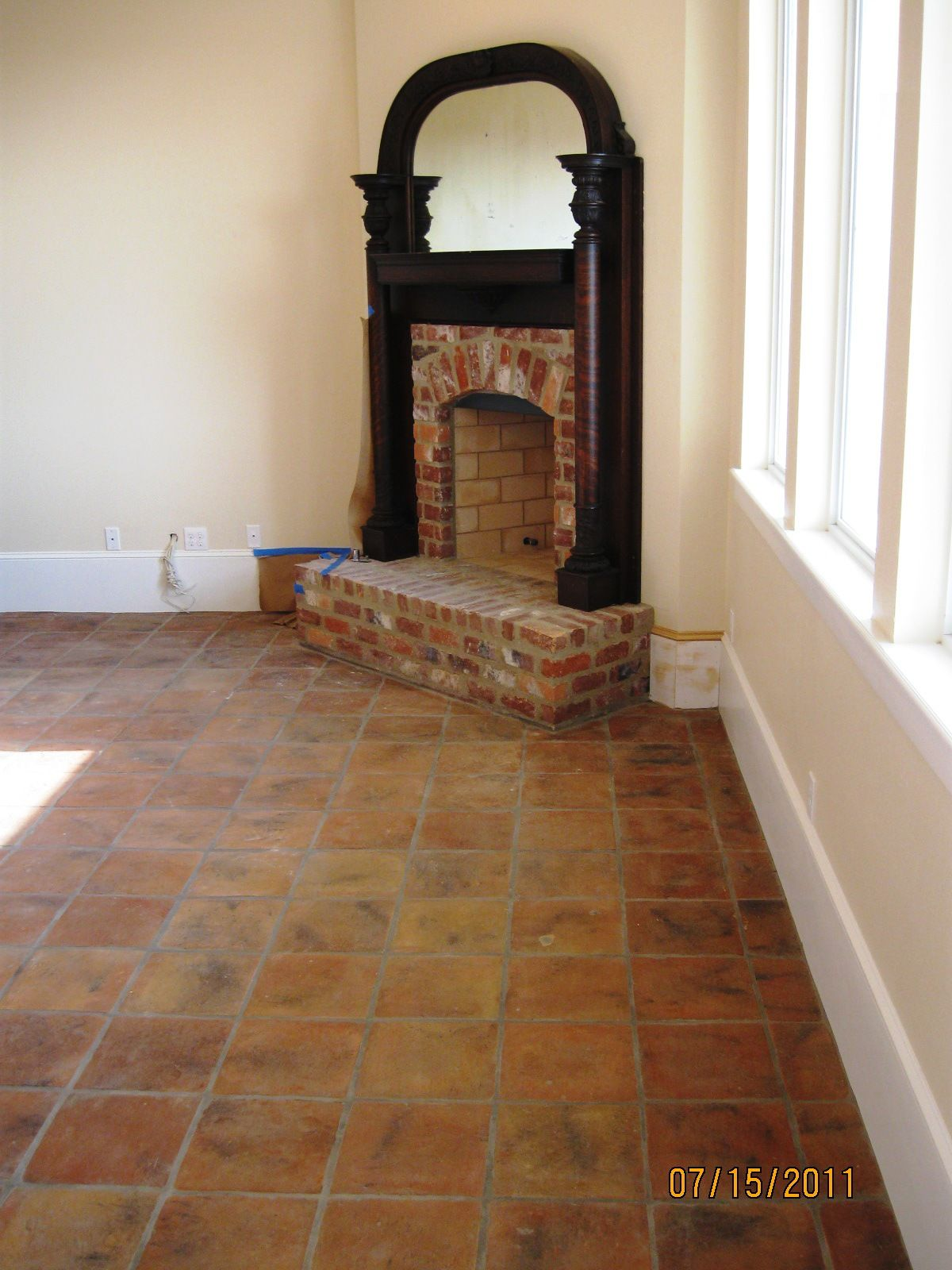 rustic terra cotta tiles