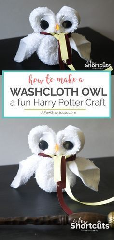 How to Make a Washcloth Owl - Fun Harry Potter Craft