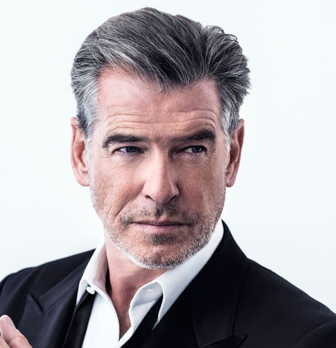 These Are The Best Hairstyles For Men In Their 20s And 30s: Pierce Brosnan Has Great Grey Hair