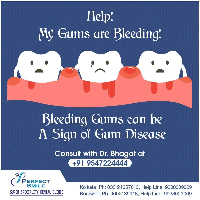 Bleeding gums can be a sign of gum disease gum disease