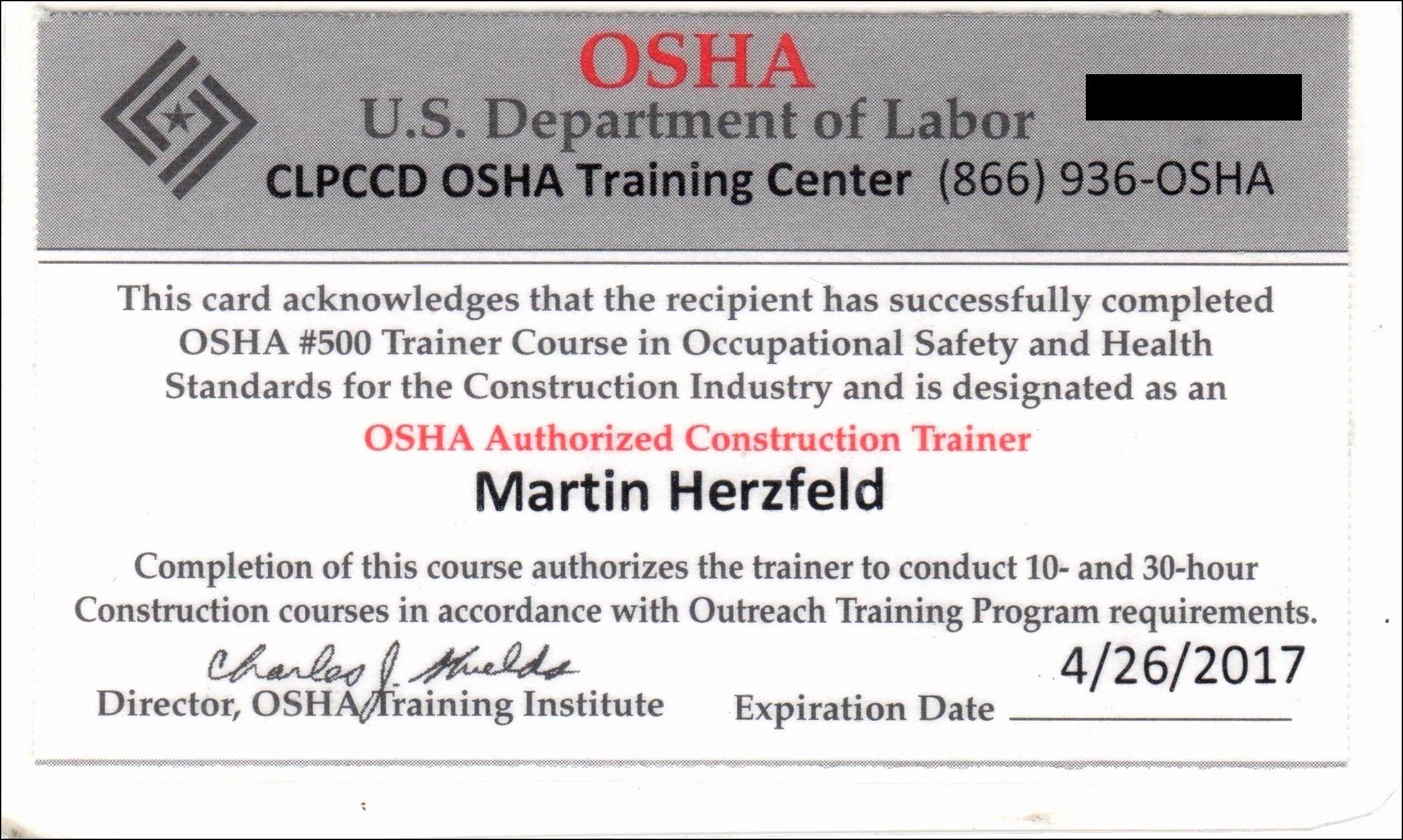 Osha 30 Card Ohio How To Leave Osha 15 Card Ohio Without Inside Osha 10 Card Template Cumed Org Certificate Templates Card Templates Free Card Template
