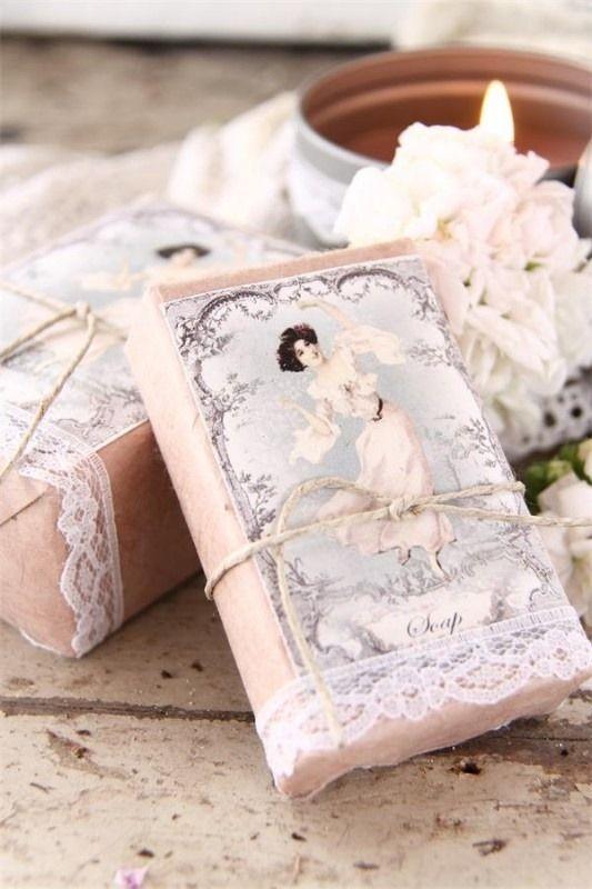 Fonte: brocantewebshop.nl sabonete com rótulo vintage