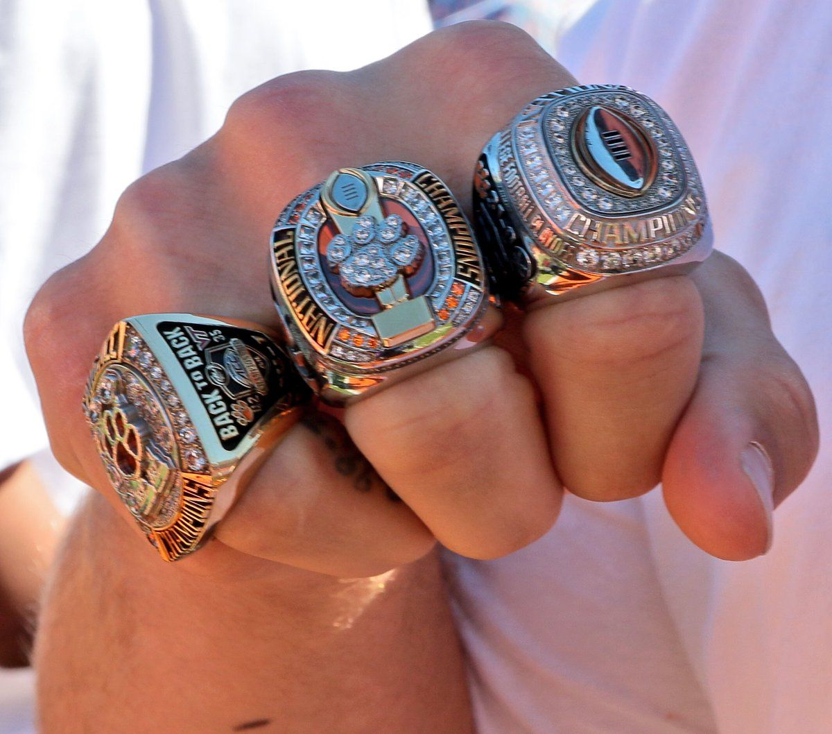2016 clemson tigers national championship ring clemson