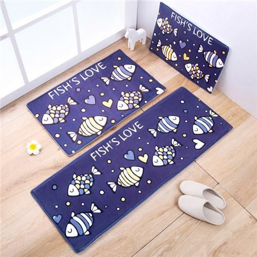 Owl Carpet 45 120cm Kitchen Mat Cartoon Home Door Antislip Rugs Christmas Decor Floor Modern Fish Animal