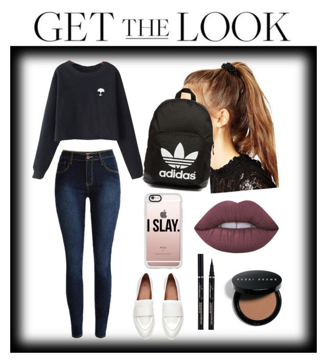 """""""Sin título #59"""" by bitchy2outfits on Polyvore featuring moda, ASOS, Chicnova Fashion, adidas Originals, Casetify, Lime Crime y Bobbi Brown Cosmetics"""