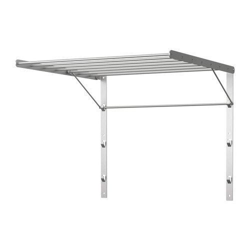 Ikea Wall Mount Clothes Drying Stainless Steel Rack Foldable