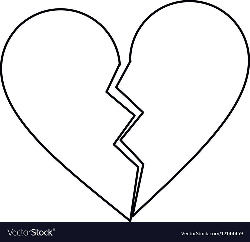 Image Result For Broken Heart Haircut Design Broken Heart Tattoo Broken Heart Emoji Broken Heart Symbol