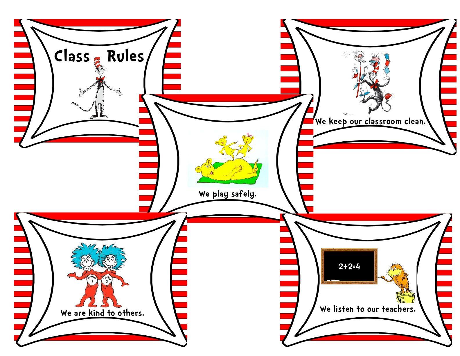 I Created A Classroom Rules Dr Seuss Theme