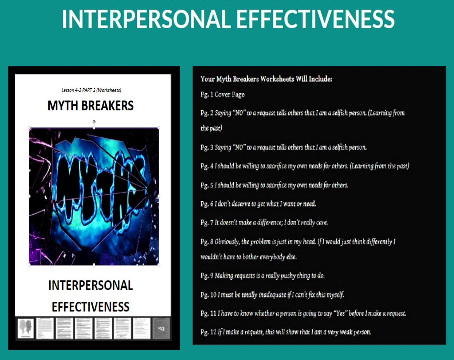 Dbt Lesson 4 2 Pt 2 Interpersonal Effectiveness Myth