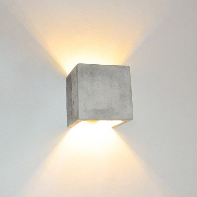 Wandleuchte Plinth Wl Aus Beton In 2020 Wandleuchte Lampen