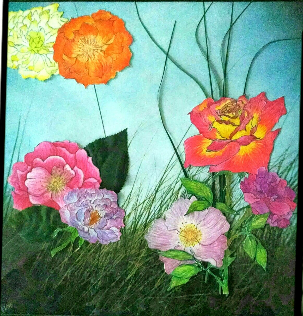 Flowers Colored pencil drawing Gypsy Rose Design by Amy Fetterling ...