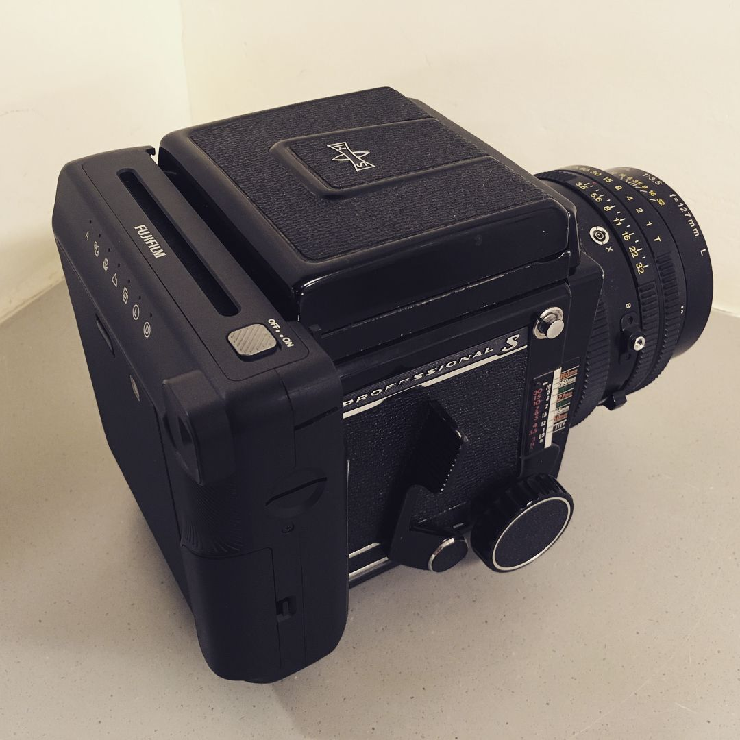 Mamiya RB67 with a Fujifilm Instax SQ6 square back by