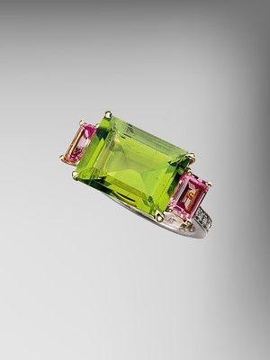 peridot_and_pink_sapphire_florentine_ring_#PaoloCostagli