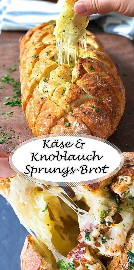 Käse und Knoblauch Sprungs Brot #herbstgerichte
