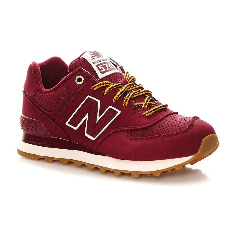 818e44b91262 New Balance ML574 D Sneakers bordeaux pas cher prix promo Baskets femme  Brandalley 100.00 €