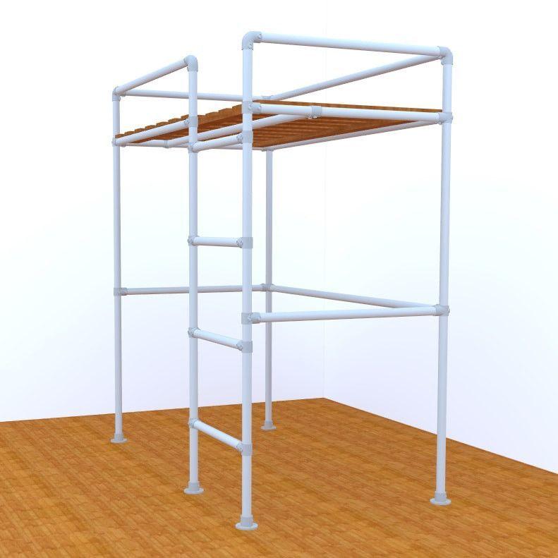 San Francisco Loft Bed Frame Pipe Bed Frames Kits Simplified