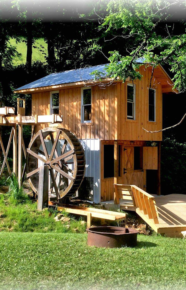 Waterwheel Cabin Rental Near Asheville Nc Near Hot