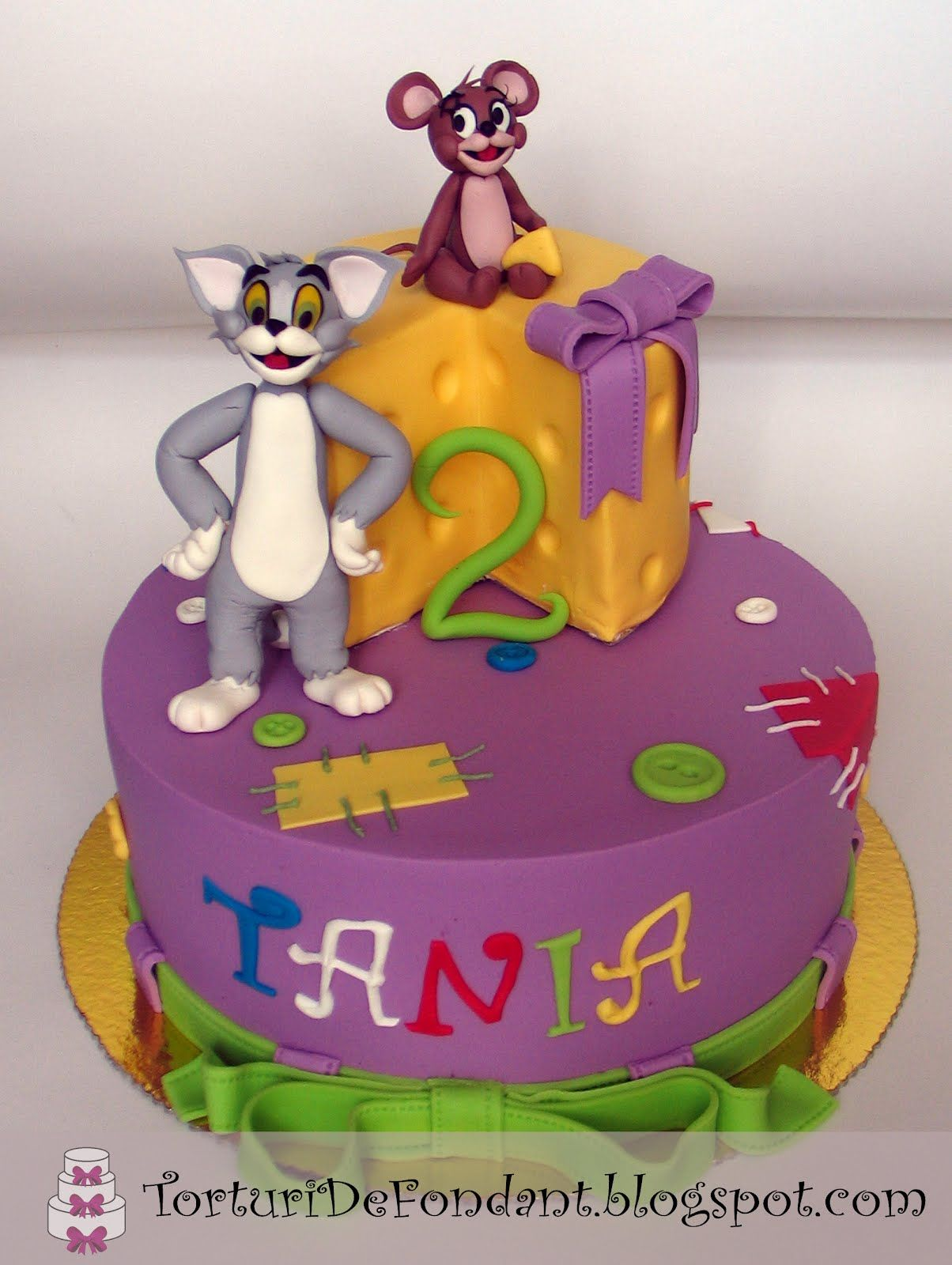 Tom Jerry Torturi de fondant Kids Birthday cakes 1