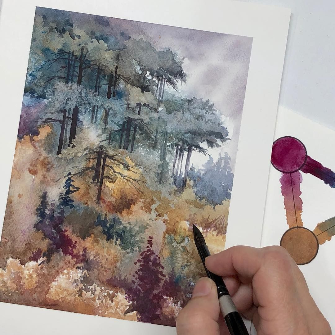New Spontaneous Watercolor Landscape Video Tomorrow Featuring A