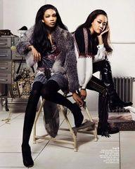 Hyoni Kang, Chanel Iman, Kim Bong Man and Noh Seung SOo by Hyea W. Kang for Vogue Korea Sept 2009