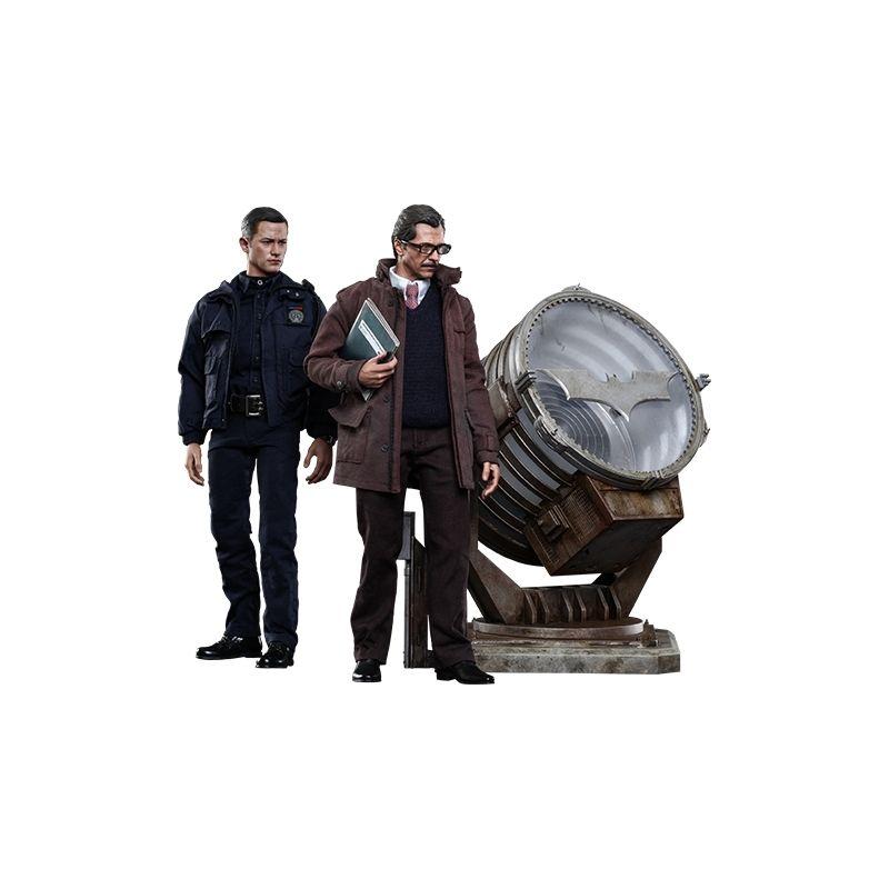 John Blake e Jim Gordon com Bat-Signal Set - Hot Toys