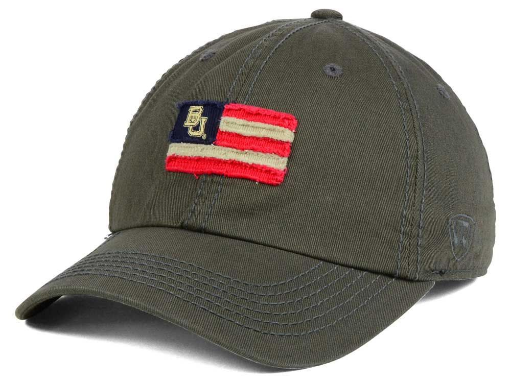 reputable site c956a 16457 Baylor Bears Top of the World NCAA Flag Adjustable Cap