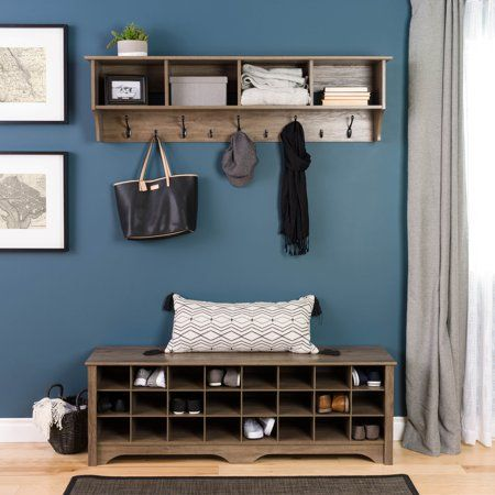 Prepac Entryway Shoe Storage Cubby Bench, Multiple Finishes images